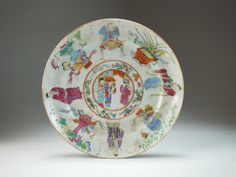 Lot 53 - Five Chinese famille rose plates, 18th century,