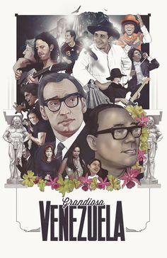 "Buen poster ""Grandiosa Venezuela"" by Loopstok Pray For Venezuela, Fauna, Embedded Image Permalink, South America, Vintage Posters, Country, World, Beautiful, Behance"