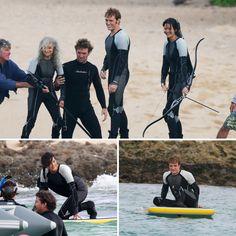 Jennifer Lawrence and Josh Hutcherson Film Catching Fire in Hawaii