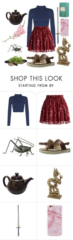 """""""Mulan"""" by hazeldazzle ❤ liked on Polyvore featuring WearAll, Chicwish, Cyan Design, Calvin Klein Jeans, Fortnum & Mason, modern, disney, princess, warrior and mulan"""
