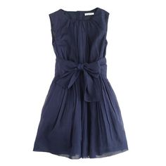 J.Crew - Girls' organdy bow dress! #FatherDaughterDance