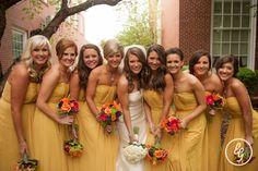 #weddingdress #bridesmaids #mustard www.eugenegrace.com
