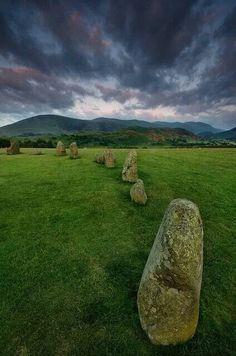 Castlerigg stone circle, cumbria, England.