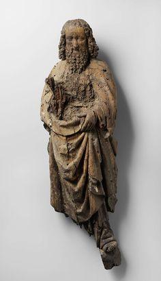 Paulus, anoniem, ca. 1500; eikenhout met resten van polychromie, h 77cm   Rijksmuseum