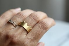 Mi Rey in gold plated silver : silver ring gold by LUNATICART