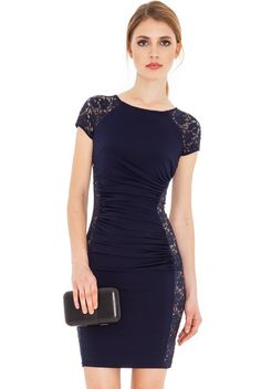 Rochie De Vara Cami Albastru Cod: R083 Sexy Dresses, Vintage Dresses, Beautiful Dresses, Evening Dresses, Short Sleeve Dresses, Vintage Lace, Short Sleeves, Spandex, 1 Piece