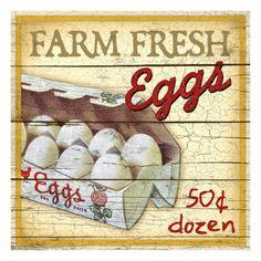 Farm Fresh Eggs Giclee Print by Kate Ward Thacker at eu.art.com