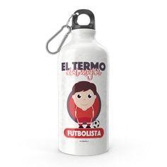 Termo - El termo del mejor futbolista, encuentra este producto en nuestra tienda online y personalízalo con un nombre. Carton Box, Upcycling, Store, Crates, Crocheting
