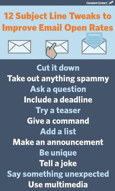 12 Tips to Create Email Marketing Subject Lines that Improve Open Rates