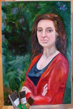 портрет маслом Вдыхая Сирень в магазине «Художница Ольга Лерх» на Ламбада-маркете