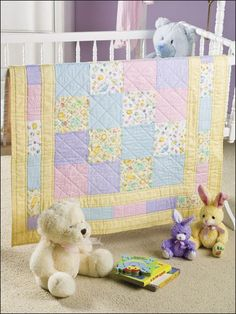 This quilt pattern for babies and easy to complete and makes a great baby shower gift. - #EQ00105