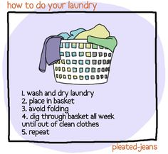 how to do your laundry