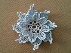 Crocheted flower No 3 - YouTube