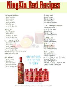 Young Living Essential Oils: NingXia Red Recipes www.theoildropper.com