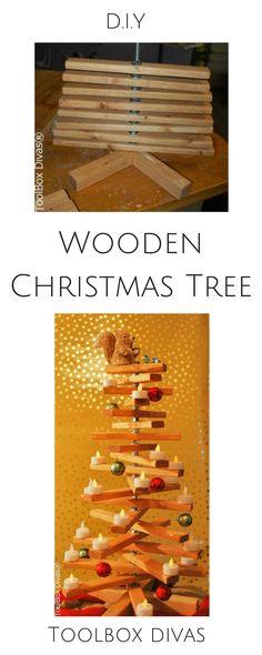 Christmas tree - such a cute idea!