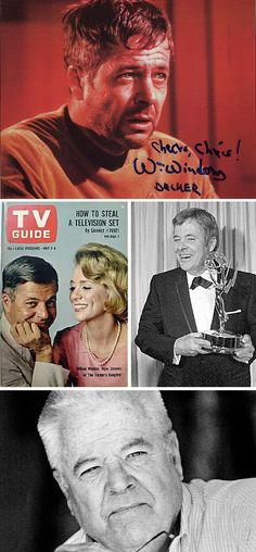 William Windom (September 28, 1923 – August 16, 2012) won an Emmy Award playing an Everyman drawn from the pages of James Thurber but who may be best remembered for his roles on The Twilight Zone, Star Trek and Murder, She Wrote. He was the great-grandson of the U.S. Secretary of the Treasury of the same name.