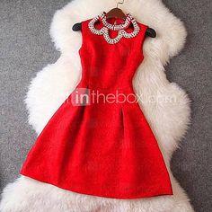 [USD $ 23.99] Women's Sweet Sleeveless Dress(More Colors)