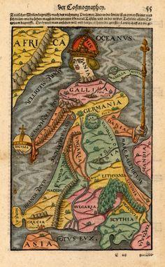 [Europe as a Queen] - Sebastian Munster, 1544