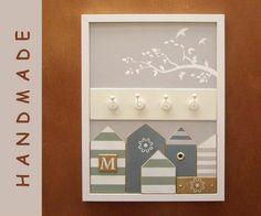Schlüsselbretter & -kästen - Schlüsselbrett, Hakenleiste - Wanddekoration - ein Designerstück von nikita76 bei DaWanda Advent Calendar, Designer, Etsy, Holiday Decor, Frame, Handmade, Home Decor, Room Wall Decor, Birthday