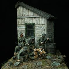 """Prey"" a cool German WWII toy soldier diorama by Johan Fohlin."