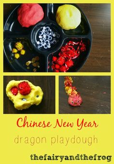 The fairy and the frog: Chinese New Year inspired Dragon playdough