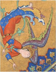 FARAYDUN STRIKES ZAHHAK WITH THE OX-HEADED MACE (detail) Attributed to Sultan Muhammad Iran, Tabriz, Safavid period, ca. 1525 Opaque watercolor, ink, and gold on paper Purchase, Freer Gallery of Art F1996.2