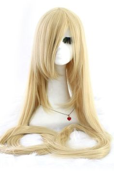 "Nuoqi 150cm Extra Super Long Straight Blonde Universal Costumes Cosplay Full Hair Wigs Nuoqi http://www.amazon.com/dp/B00L3448F0/ref=cm_sw_r_pi_dp_-Thwwb1QKTJ97 60"" wig, will buy two + some extensions to make the braid thicker, style the 1st wig, add in extensions, braid, add 2nd wig at bottom of braid and viola!  Rapunzel parks wig!"