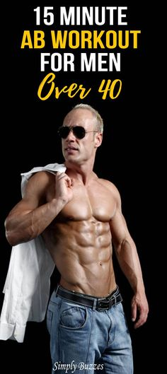 15 Minute Ab Workout Routine For Men Over 40 - Simply Buzzes Workout Routine For Men, Ab Workout Men, Workout Challenge, No Equipment Workout, Ab Routine, Fitness Body Men, Fitness Herausforderungen, Planet Fitness Workout, Men Fitness Motivation