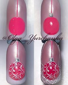 """If you're unfamiliar with nail trends and you hear the words """"coffin nails,"""" what comes to mind? It's not nails with coffins drawn on them. It's long nails with a square tip, and the look has. Nail Art Noel, Xmas Nail Art, Xmas Nails, New Year's Nails, Holiday Nails, Christmas Nails, Fun Nails, Cool Nail Art, Christmas Ornament"""