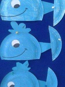 Crafts,Actvities and Worksheets for Preschool,Toddler and Kindergarten.Lots of worksheets and coloring pages. Ocean Animal Crafts, Whale Crafts, Dolphin Craft, Paper Plate Animals, Sunday School Crafts For Kids, Paper Plate Crafts For Kids, Wal, Camping Crafts, Summer Crafts