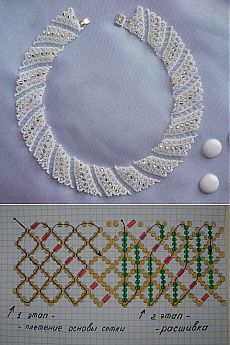 Free openwork beaded collar pattern by anna anchik martynov featured in bead patterns com newsletter – ArtofitBest Seed Bead Jewelry 2017 Free pattern for beaded necklace Galaxy Diy Jewelry Necklace, Seed Bead Jewelry, Bead Jewellery, Handmade Necklaces, Jewelry Crafts, Beaded Necklaces, Necklace Designs, Necklace Ideas, Handmade Jewelry