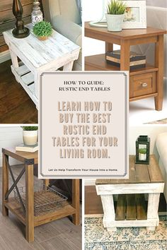 Round End Tables, White End Tables, End Tables With Drawers, End Table Sets, End Tables With Storage, Farmhouse End Tables, Rustic End Tables, Entryway Tables, Decorating End Tables
