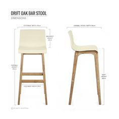 5 chaises de bar à la mode cet été | des chaises de bar modernes ... - Chaise De Bar Blanche