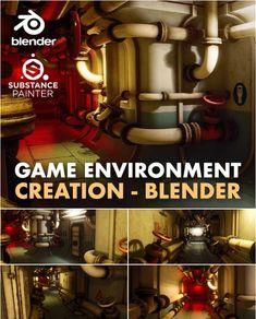 Game Environment Creation in Blender Modeling Techniques, Modeling Tips, 3d Tutorial, Digital Art Tutorial, Game Environment, Environment Design, Digital Sculpting, Video Game Development, Modular Walls