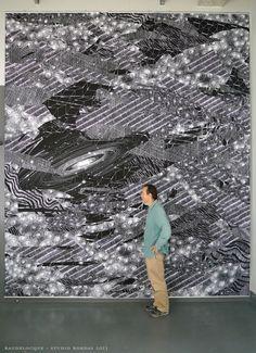 Optically Addicted  Parisian chalk artist,   Philippe Baudelocque