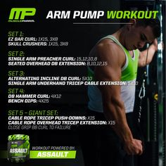 Body Pump Workout - Change Your Life And Become More Fit! Arm Workout Men, Biceps Workout, Gym Workouts, Workout Routines, Chest Workouts, Workout Plans, Muscle Pharm Arms, Bi And Tri Workout, Musclepharm Workouts
