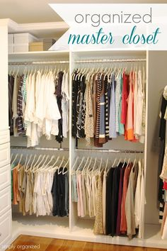 Organized Master Closet | Simply Organized