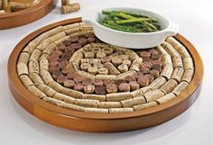 """Wine Enthusiast Round Wine Cork Board Kit helps repurpose your corks and preserve your memories. Fill this kit with keepsake corks and enjoy """"memories of wines past"""" along with a handy board for protecting surfaces and furnishing walls! Wine Cork Trivet, Wine Cork Art, Wine Cork Boards, Cork Coasters, Wine Craft, Wine Cork Crafts, Wine Cork Projects, Recycled Wine Corks, Wine Bottle Corks"""