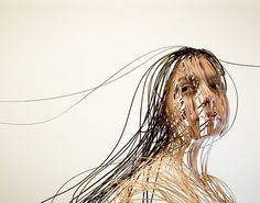 Scribbled Line Portrait || Collection of photography portraying human figure in scribbled lines by Ayaka Ito. Click image for more