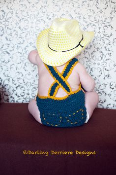 Baby Crochet Diaper Cover Overalls Pattern by DarlingDerriere, $5.50
