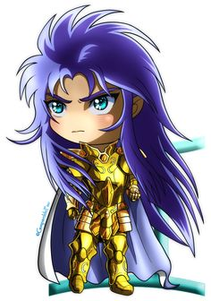 Hello, guys! I continue my training about chibi and I've decided to create a little series about Gold Saints of Saint Seiya! ^^ Here's our Greek bipolar Gemini Saga ! x3 And the green thing behind...