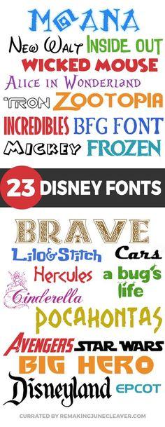 NEW free disney fonts