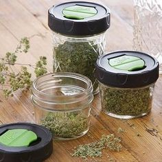 Dry Herb Mason Jars with Herb Shaker Lids, 4 count, Mason Jar Breakfast, Mason Jar Lunch, Mason Jar Drinks, Canning Vegetables, Canning Tomatoes, Kerr Mason Jars, Canning Sweet Potatoes, Soup In A Jar, Wax