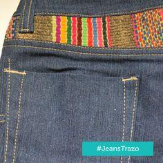 Jeans Trazo - Gris - Jeans con aplicaciones de manto andino