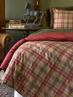 Kensington Plaid Comforter - Lauren Home Comforters - RalphLauren.com