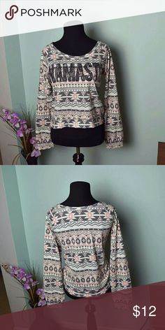 Super Cute Namaste Aztec Print Top In excellent condition Tops Blouses