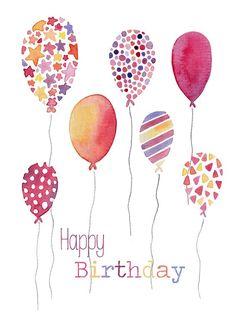 Happy Birthday pretty balloons
