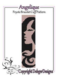 Angelique - Beaded Peyote Bracelet Cuff Pattern