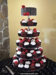 Gorgeous Display! #WeddingAcrylics Monochrome Range Round in Clear.  #Cake #Cupcake Tower http://www.weddingacrylics.co.uk/round-cupcake-stands/001-7-R-MC.html