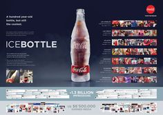 Coca-Cola has satisfied our thirst every summer since So how can we keep Coke so refreshing after all this time? By launching the REAL ICE COLD COCA-COLA: a bottle made of actual ice.The REAL ICE COLD COCA-COLA was sold on the beaches, where it pr… Marketing Viral, Guerilla Marketing, Direct Marketing, Coca Cola, Web Design, Design Ideas, Design Inspiration, Graphic Design, Ad Of The World